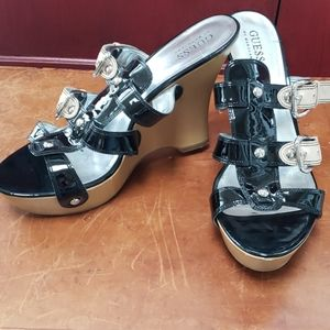 Guess by Marciano leather wedges sz 10